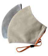 Happy 3-Layer Face Mask Tan + Light Grey