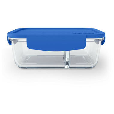 Bentgo Small Glass Container with Leak-Proof Lid Blue