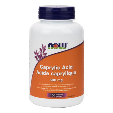 NOW Foods Caprylic Acid 600mg