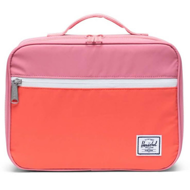 Herschel Supply Pop Quiz Lunch Box Flamingo Pink & Hot Coral Reflective