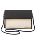 Petunia Pickle Bottom Crossover Clutch Birch & Black