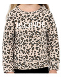 Brunette the Label Blonde Kids Sweatshirt Crew Leopard Print