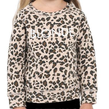Brunette the Label Blonde Kids Sweatshirt Crew Leopard Print