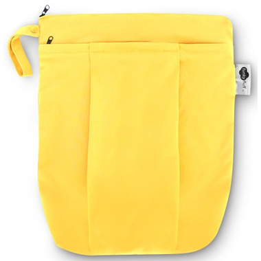 Funky Fluff Double Pocket Wet Bag Yellow Submarine