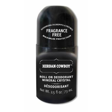Herban Cowboy Fragrance Free Crystal Deodorant