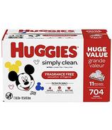 Huggies Simply Clean Lingettes pour Bébé Non Parfumées