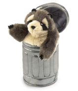 Folkmanis Raccoon in Can Puppet