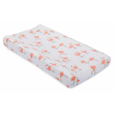 Little Unicorn Brushed Changing Pad Cover Pink Ladies