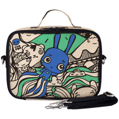 SoYoung x Pixopop Raw Linen Flying Stitch Bunny Lunch Box