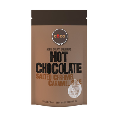 COCO Hot Chocolate Organic Salted Caramel Hot Chocolate