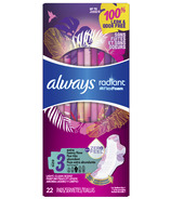 Always Radiant Pads Extra Heavy Flow Absorbency Scented