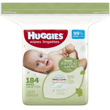 Huggies Natural Care Baby Wipes Refill
