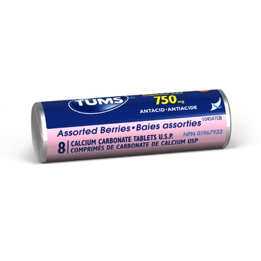 Tums Extra Strength Single Roll Assorted Berries