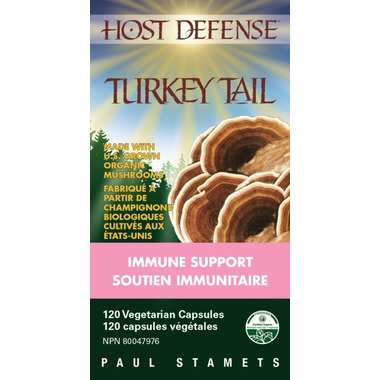 Host Defense Turkey Tail (Trametes Versicolor) Capsules