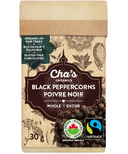 Cha's Organics Black Peppercorns Whole