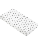 Kushies Changing Flannel Pad Cover Deer Black & White