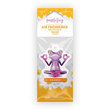 Purple Frog Orange Hanging Air Freshener
