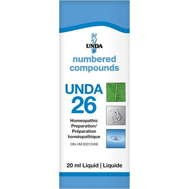 UNDA Numbered Compounds UNDA 26 Homeopathic Preparation