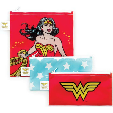 Bumkins DC Comics Trio Snack Bags Wonder Woman
