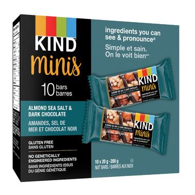 KIND Minis Bars Almond Sea Salt & Dark Chocolate