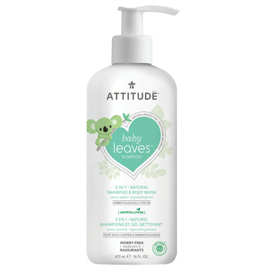 ATTITUDE Baby Leaves 2-in-1 Shampoo & Body Wash Sweet Apple