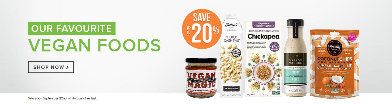 Save up to 20% off Vegan Foods