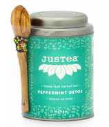JusTea Loose Leaf Herbal Tea Peppermint Detox