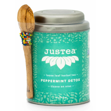 JusTea Loose Leaf Herbal Tea Peppermint Detox
