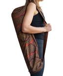 Samyoga Handmade Yoga Mat Bag Morris Red & Brown