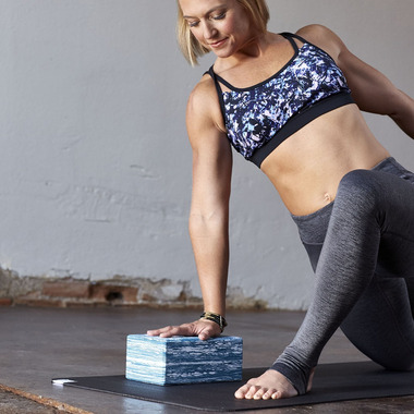 Gaiam Studio Select Premium Yoga Block Marbled