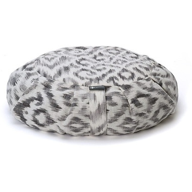Halfmoon Round Meditation Cushion Charcoal Ikat