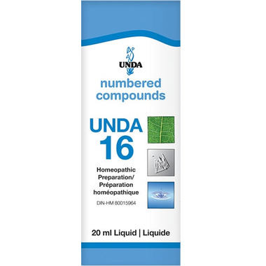 UNDA Numbered Compounds UNDA 16 Homeopathic Preparation