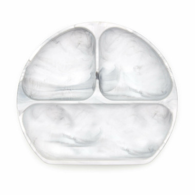 Bumkins Silicone Grip Dish Marble