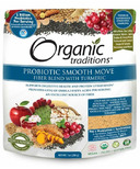 Organic Traditions Probiotic Smooth Move Fiber Blend with Turmeric