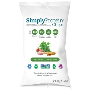 Simply Choices Simply Protein Chips Herb and Garlic