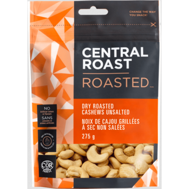 Central Roast Dry Roasted Cashews Unsalted