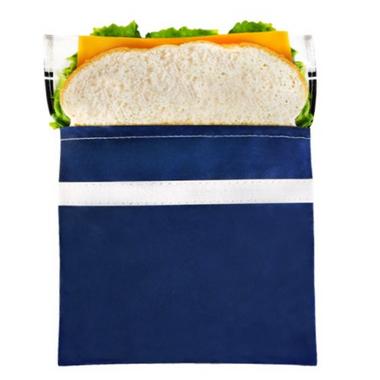 Lunchskins Navy Bike Sandwich Bag