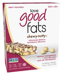 Love Good Fats Coconut Macadamia Chewy Nutty Bars
