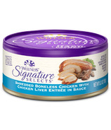 Wellness Signature Selects Shredded Chicken & Liver Wet Food CASE OF 12