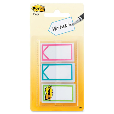 Post-it Assorted Colors 1 Inch Writable Flags