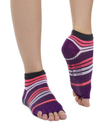 Gaiam No-Slip Toeless Yoga Socks Size S/M in Pink & Purple