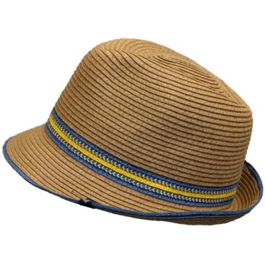 Calikids Kid\'s Straw Hat Tan Combo