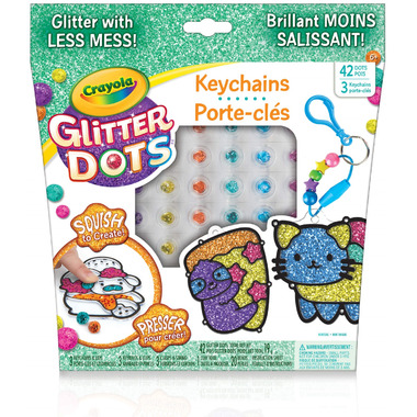 Crayola Glitter Dots Key Chains