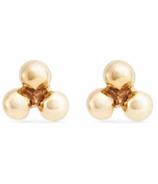 Bluboho Large Tripod Earrings 10k Yellow Gold