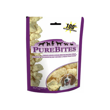 PureBites Freeze Dried Ocean Whitefish Dog Treats