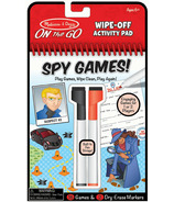 Melissa & Doug On the Go Spy Games Bloc d'activités à effacer