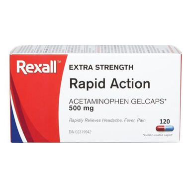 Rexall Extra Strength Rapid Action Acetaminophen 500 mg