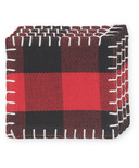 Now Designs Coasters Set of 4 Buffalo Check