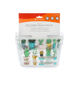Full Circle Ziptuck Reusable Snack Bags Cactus