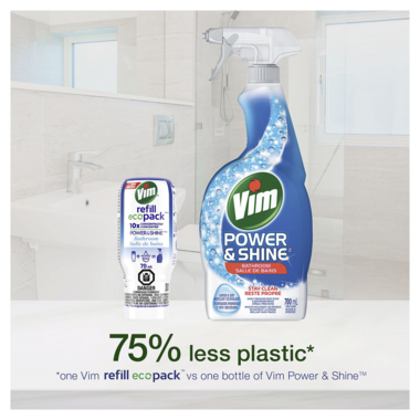 Vim Power & Shine Concentrated Bathroom Cleaner Ecopack Refill